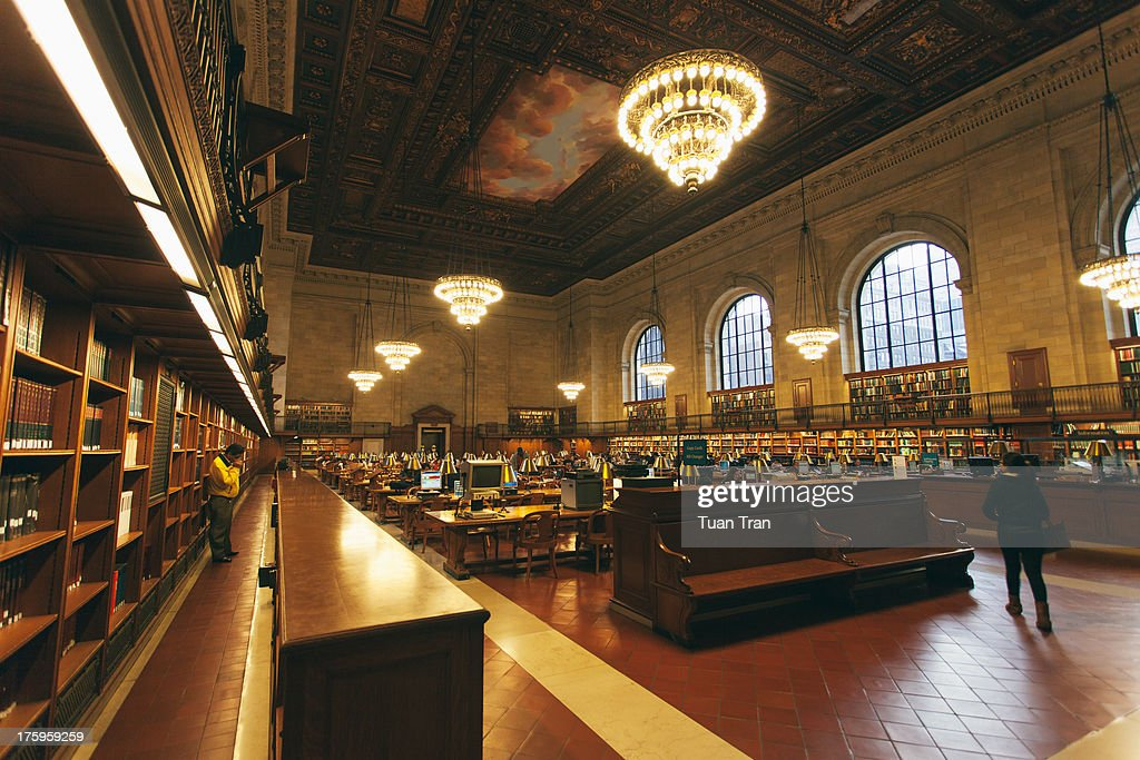 A general view of the interior of the New York Public Library April 24 2013 in New York City