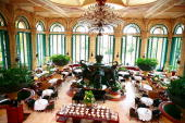 A general view of the interior of the The Palace of the Lost City Hotel within the Sun City Resort which is rumoured to be the base of the England...