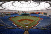 A general view of the interior of Tropicana Field on May 26 2004 in St Petersburg Florida