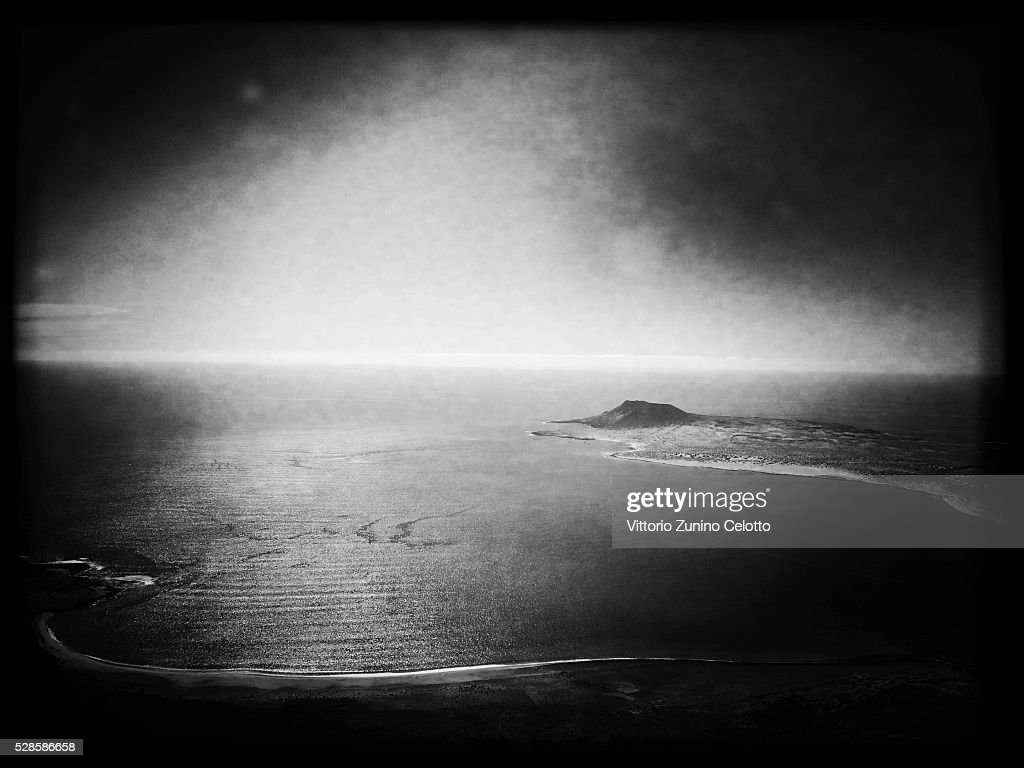 A general view of the Isle of La Graciosa on April 22, 2016 in Lanzarote, Spain.
