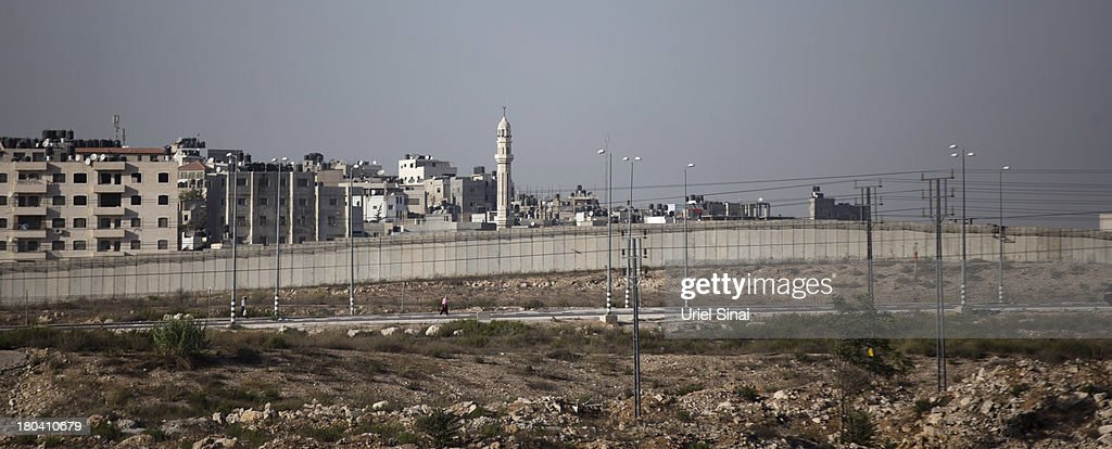 A general view of the Israeli West Bank barrier on September 12, 2013 around Ramallah, West Bank. The twenty-year anniversary of the Oslo Accord, which was to set up a framework for peace between Israel and Palestine, will be marked on September 13.