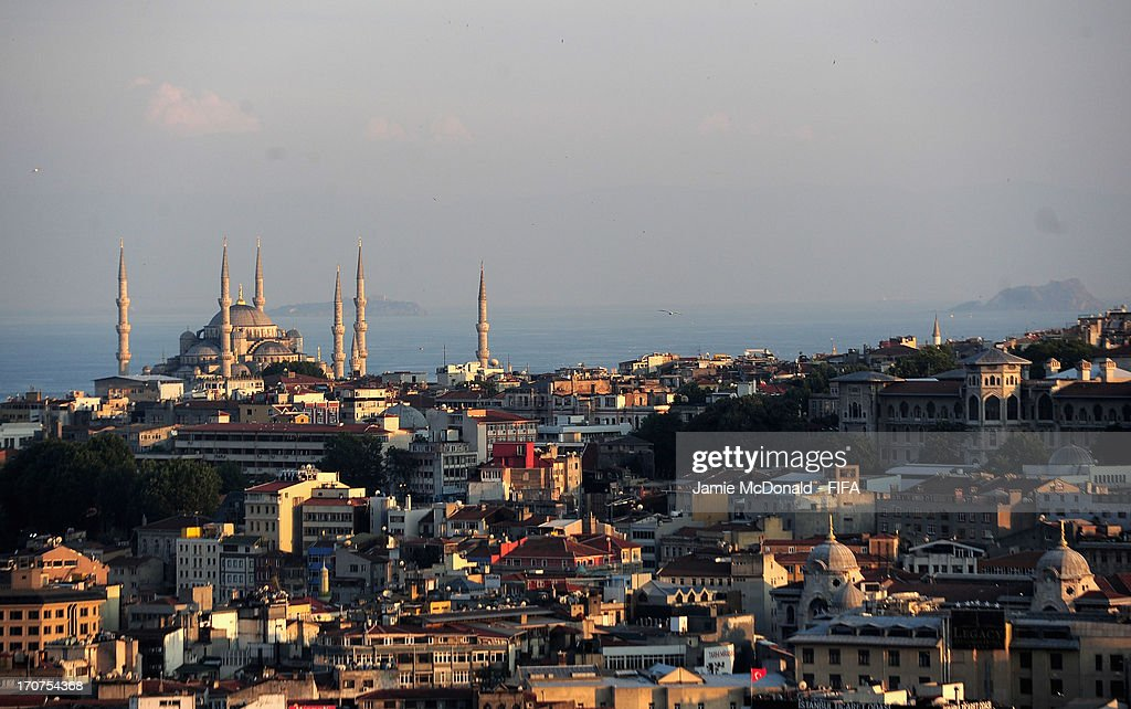 A general view of the Istanbul skyline from the Galata Tower on June 17, 2013 in Istanbul, Turkey.