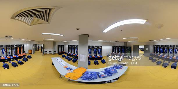 A general view of the Italy dressing room before the 2014 FIFA World Cup Brazil Group D match between England v Italy at Arena Amazonia on June 14...