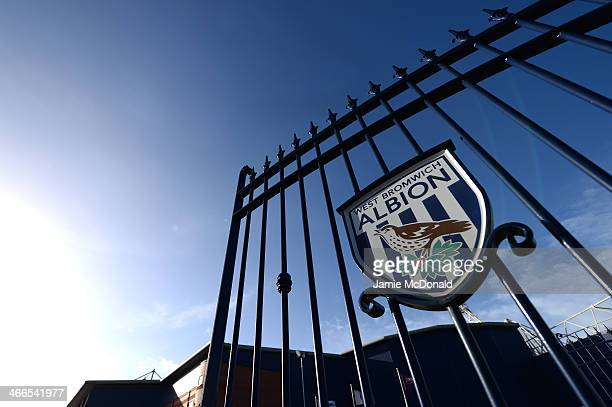 A general view of the Jeff Astle gates prior to kickoff during the Barclays Premier League match between West Bromwich Albion and Liverpool at The...