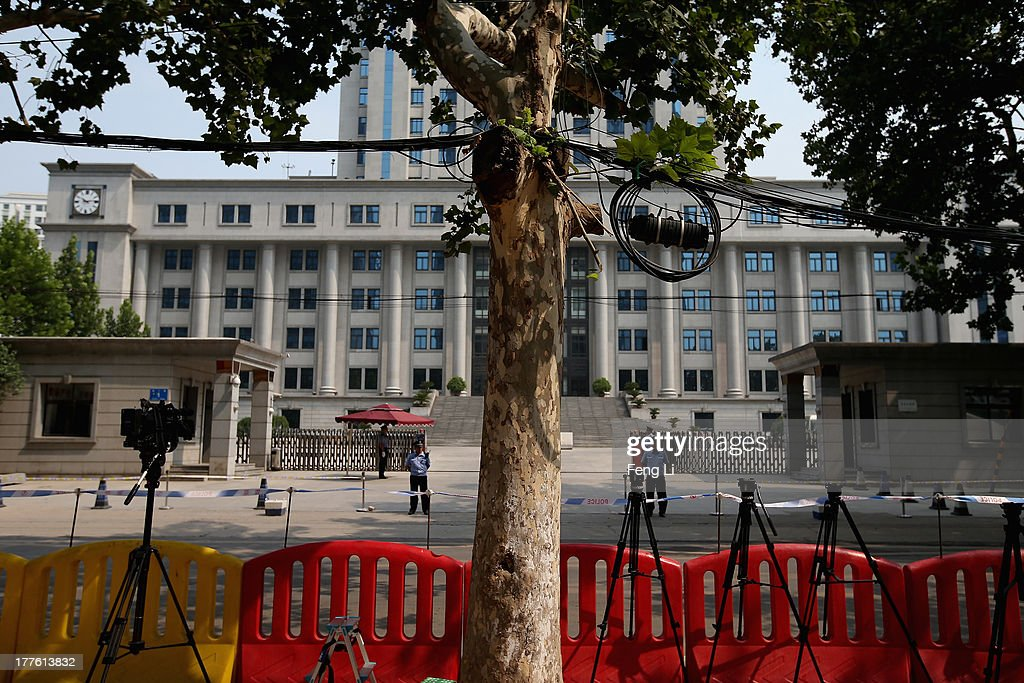 A general view of the Jinan Intermediate People's Court during the fourth day of former Chinese politician Bo Xilai's trial on August 24, 2013 in Jinan, China. Ousted Chinese politician Bo Xilai is standing trial on charges of bribery, corruption and abuse of power for a third day. Bo Xilai made global headlines last year when his wife Gu Kailai was charged and convicted of murdering British businessman Neil Heywood.
