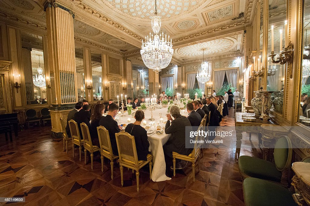General view of the 'Jo Malone London Scented' Dinner at Palazzo Crespi on November 26, 2013 in Milan, Italy.