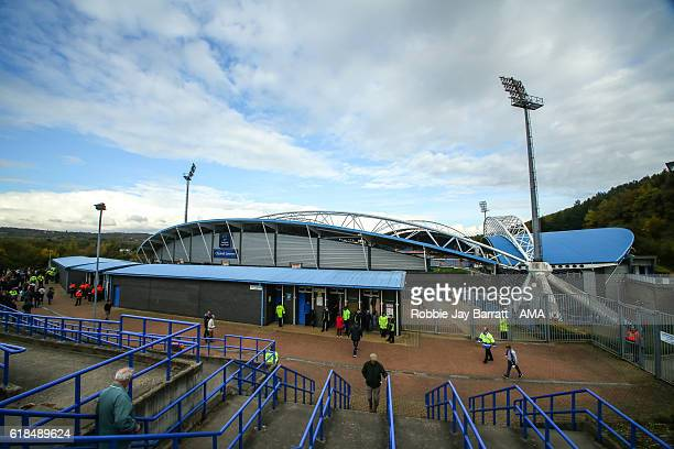 A general view of the John Smiths Stadium home stadium of Huddersfield Town prior to the Sky Bet Championship match between Huddersfield Town and...