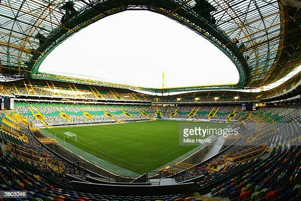 General view of the Jose Alvalade Stadium home to Sporting Lisbon taken during a photoshoot held on December 2 2003 in Lisbon Portugal The stadium...