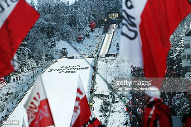 General view of the jumping hill the FIS Ski Jumping World Cup on January 23 2010 in Zakopane Poland