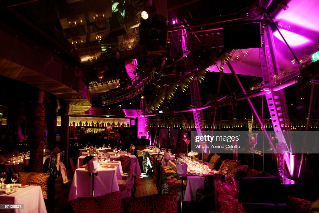 A general view of the Just Cavalli Cafe during the Cointreaupolitan Cocktail Party on March 4 2010 in Milan Italy