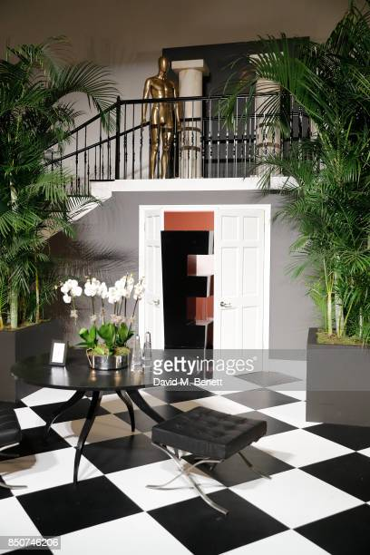 A general view of the Kardashian's staircase during E Entertainment Television celebrating 10 years of 'Keeping Up With The Kardashians' giving fans...