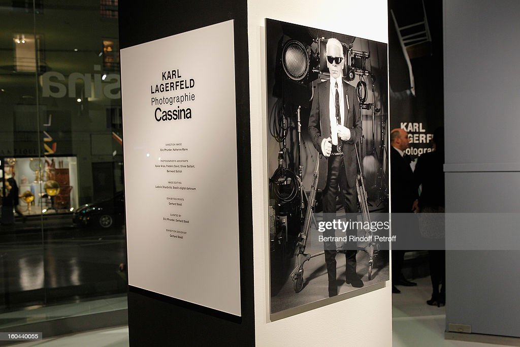General view of the Karl Lagerfeld Photo Exhibition Preview at the Showroom Cassina on January 31, 2013 in Paris, France.