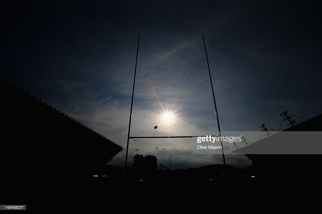A general view of the Kassam Stadium before the RFU Championship Playoff 2nd leg match between London Welsh and Cornish Pirates at Kassam Stadium on...