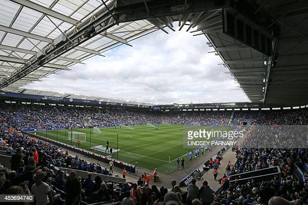 General view of the King Power Stadium before the start of the English Premier League football match between Leicester City and Everton in Leicester...