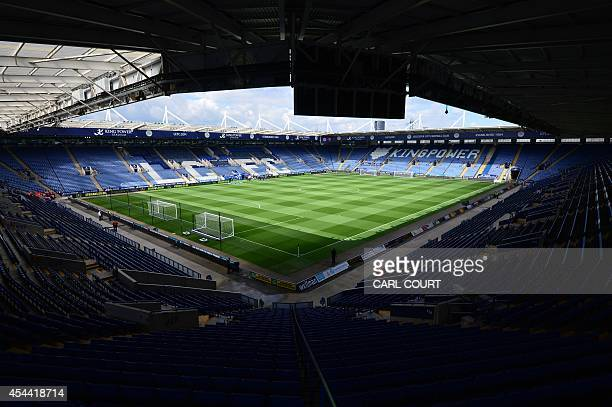 General view of the King Power Stadium home to Leicester City Football Club in Leicester central England on August 31 2014 USE No use with...