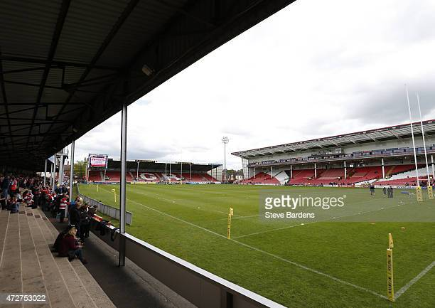 General view of the Kingsholm Stadium prior to the Aviva Premiership match between Gloucester Rugby and London Irish at Kingsholm Stadium on May 9...