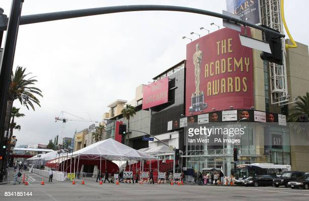 General view of the Kodak Theatre in Hollywood Boulevard Los Angeles where the 80th Academy Awards are set to be staged on Sunday 24th February 2008