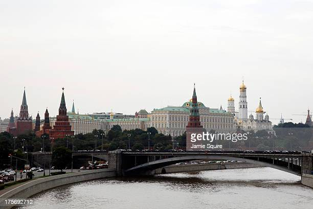 A general view of the Kremlin ahead of the 14th IAAF World Athletics Championships on August 6 2013 in Moscow Russia