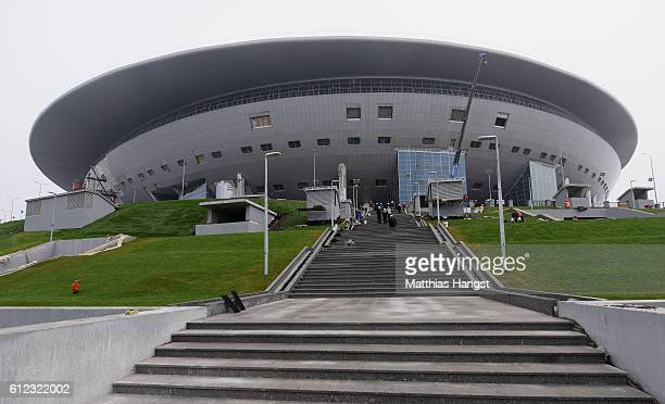 A general view of the Krestovsky Stadium during the FIFA News Agencies Tour for the FIFA Confederations Cup 2017 on October 3 2016 in Saint...