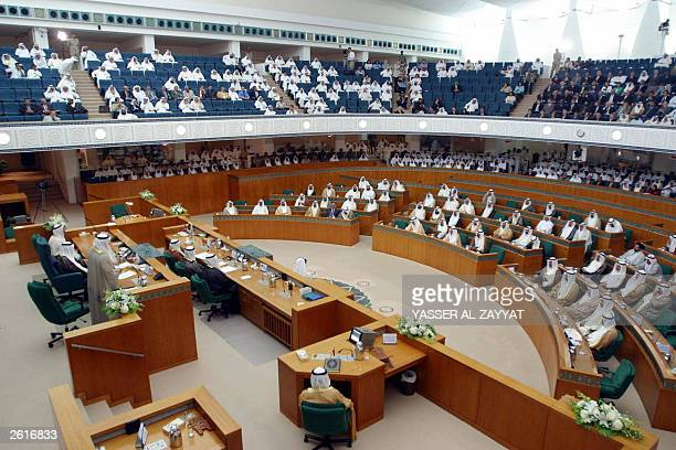 A general view of the Kuwaiti parliament during the opening of a new legislative term the first in the postSaddam Hussein era 20 October 2003 The new...