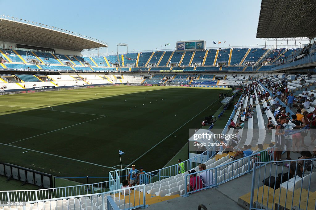 General view of the La Rosaleda Stadium on August 23 2014 in Malaga Spain