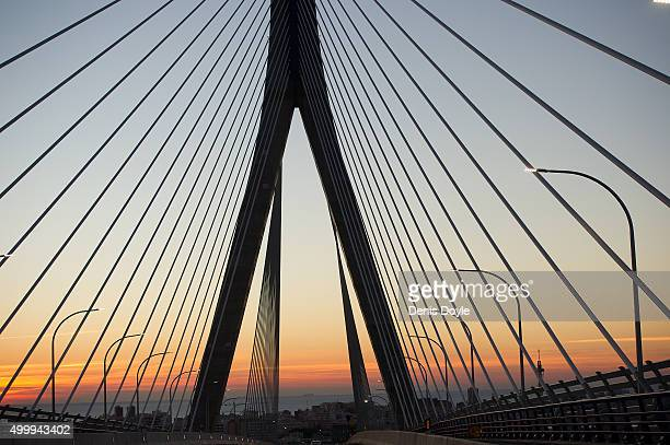 A general view of the landmark 1812 Consttiution Bridge on December 3 2015 in Cadiz Spain The bridge has a total height of 185 meters with a...