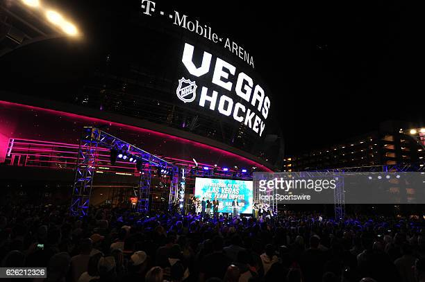 A general view of the Las Vegas NHL team name Unveiling ceremony on November 22 at The Park at TMobile Arena in Las Vegas NV