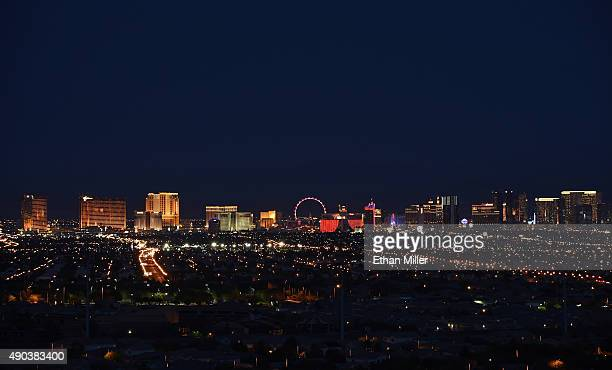A general view of the Las Vegas Strip is shown on September 27 2015 in Las Vegas Nevada