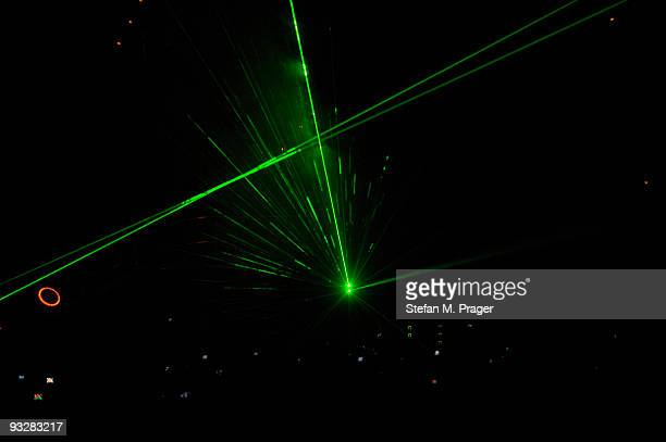 General view of the Lasershow at Olympiahalle on November 20 2009 in Munich Germany