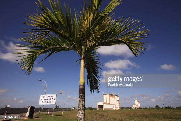 A general view of the launch complex at the European Spaceport on April 30 2011 in Kourou French Guyana Ariane 5 launched on May 21 2011 carrying two...