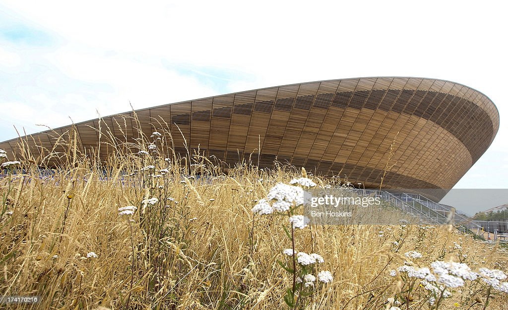 A general view of the Lee Valley Velodrome during The National Lottery Anniversary Run at The Queen Elizabeth Olympic Park on July 21, 2013 in Stratford, England.