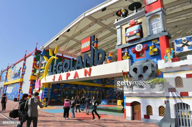 A general view of the Legoland Japan during the press preview on March 17 2017 in Nagoya Aichi Japan Legoland Japan estimates that about 2 million...