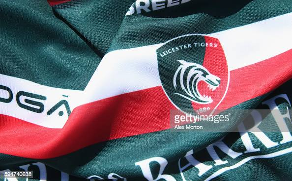 General view of the Leicester Tigers shirt during the Leicester Tigers squad photo call for the 20162017 Aviva Premiership Rugby season on August 24...
