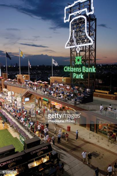General view of the Liberty Bell at Citizen's Bank Park before the Chicago White Sox take on the Philadelphia Phillies during an interleague game on...