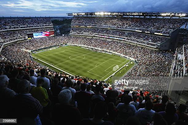 A general view of the Lincoln Financial Field stadium during the Champions World Series game between Manchester United and Barcelona on August 3 2003...
