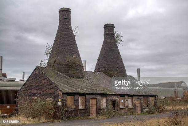 A general view of the listed derelict Falcon Pottery Works on February 20 2017 in StokeonTrent England The StokeOnTrent Central byelection has been...