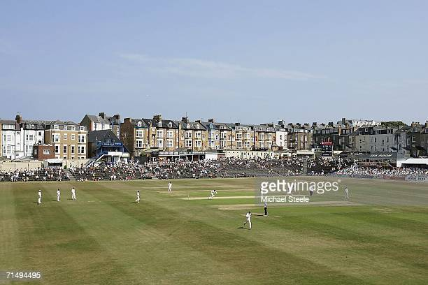 General view of the Liverpool Victoria County Championship Division One match between Yorkshire and Warwickshire on July 21 2006 at North Marine Road...