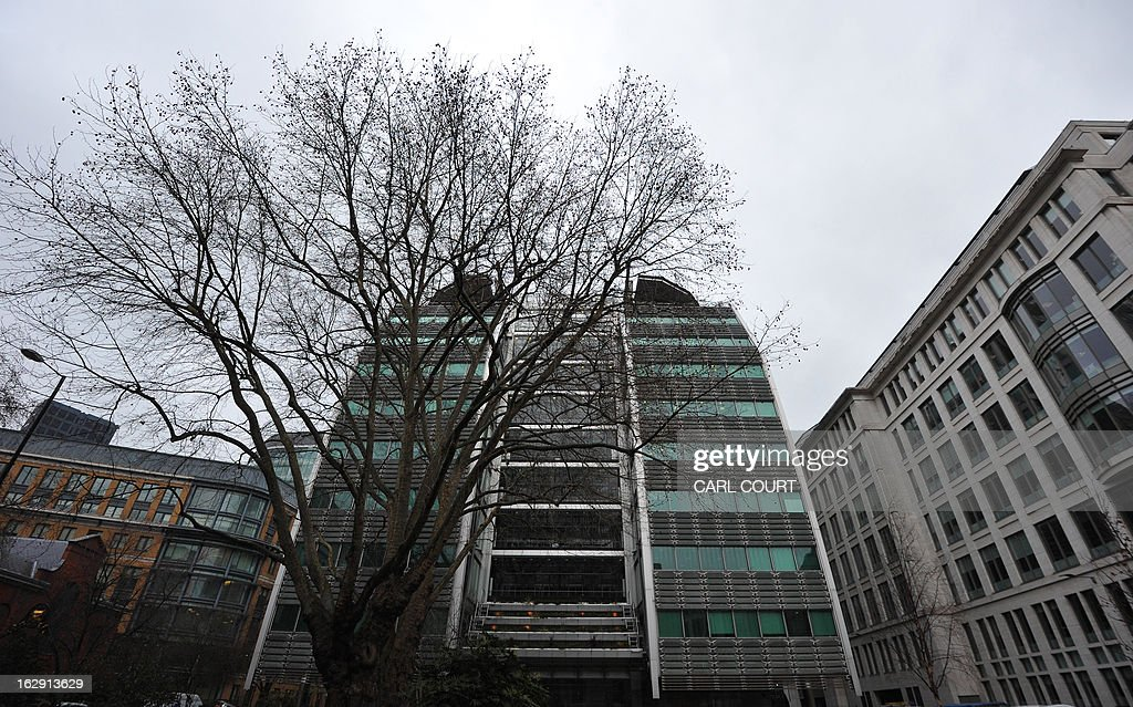 General view of the Lloyds Banking Group headquarters in the City of London on March 1, 2013. Britain's state-rescued Lloyds bank on March 1 posted a 2012 net loss of 1.43 billion GBP, rocked by huge compensation for insurance mis-selling, but awarded its boss and staff a large round of bonuses.