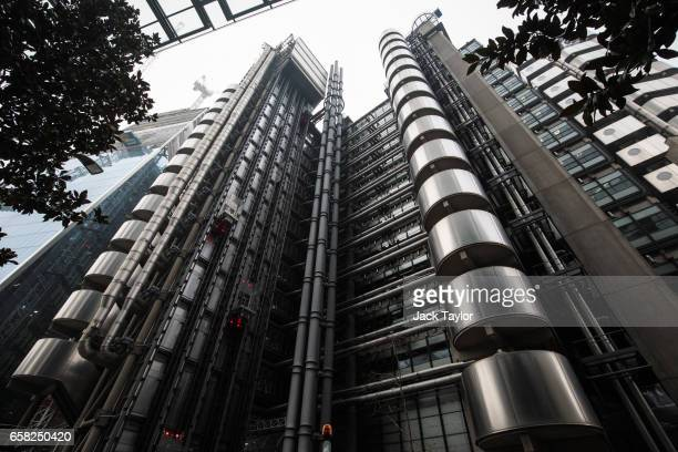 A general view of the Lloyd's building home of the world's largest insurance market Lloyd's of London on March 27 2017 in London England British...