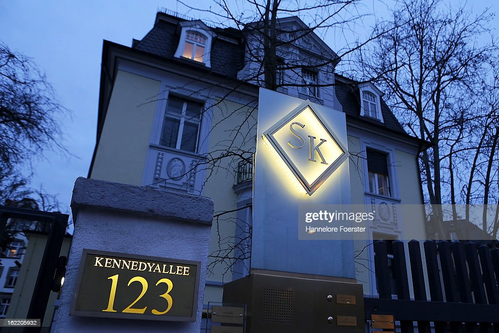 A general view of the logo and headquarters of the S&K investment group the day after police raided the company's offices on February 20, 2013 in Frankfurt, Germany. State prosecutors have conducted raids across the country and police have made six arrests following investigations into a Ponzi scheme that is reported to have defrauded thousands of investors. .