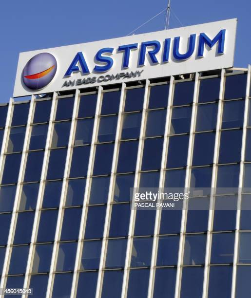 A general view of the logo of Astrium the space subsiduary of European aerospace giant EADS in Toulouse on December 13 2013 PAVANI