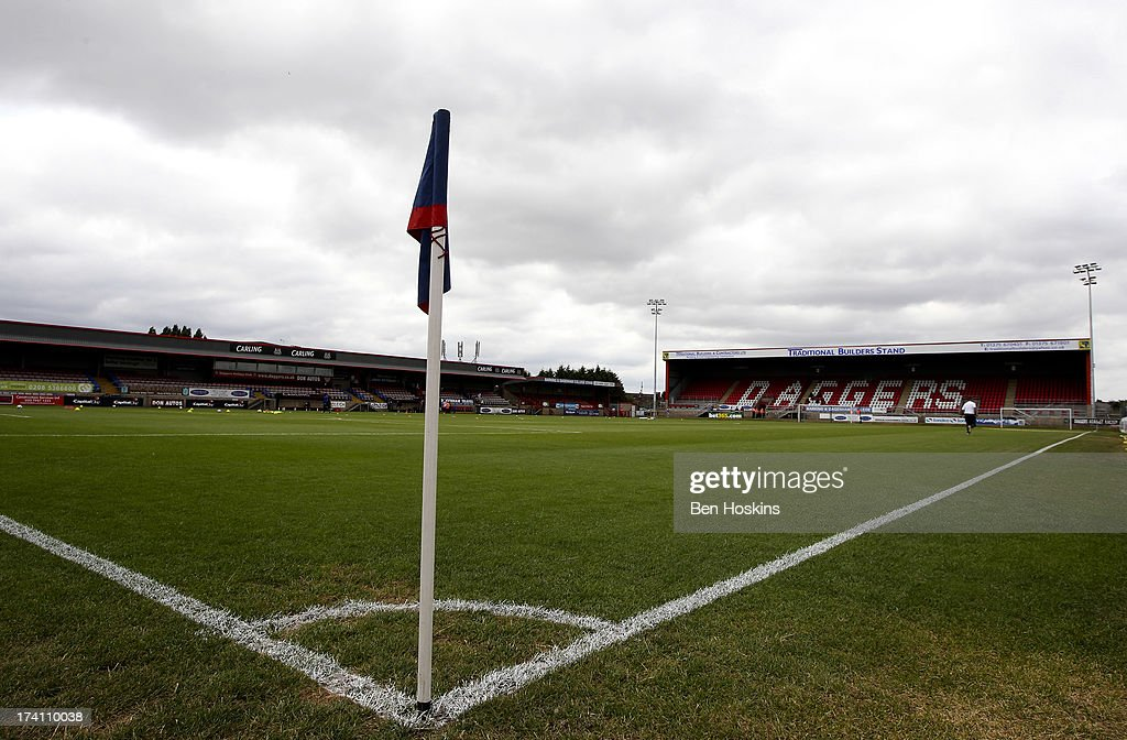 A general view of The London Borough of Barking and Dagenham Stadium prior to a pre season friendly match between Dagenham and Redbridge and Crystal Palace at The London Borough of Barking and Dagenham Stadium on July 20, 2013 in Dagenhm, England.
