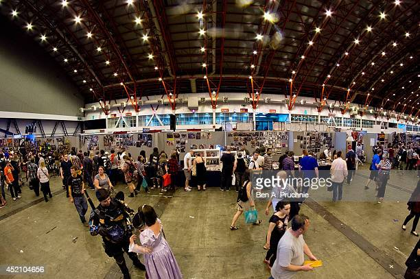 A general view of the London Film and Comic Con at Earls Court on July 11 2014 in London England