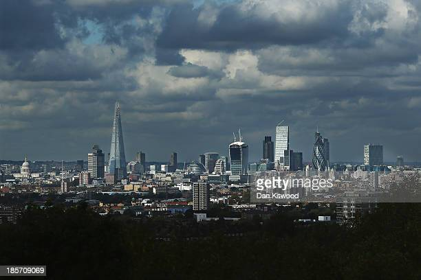 A general view of the London Skyline on October 24 2013 in London England London is fast becoming one of the wealthiest cities in the world with...