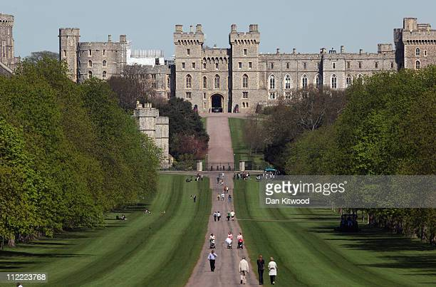 A general view of the Long Walk up to Windsor Castle on April 7 2011 in Windsor England