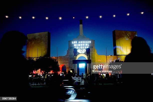 A general view of the Los Angeles Memorial Coliseum during FYF Fest 2016 at Los Angeles Sports Arena on August 27 2016 in Los Angeles California