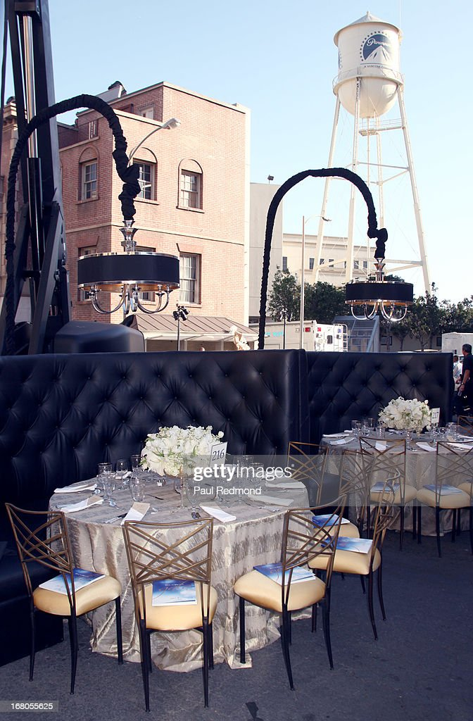 A general view of The Los Angeles Police Foundation's 15th Anniversary True Blue Gala at Paramount Studios on May 2, 2013 in Hollywood, California.