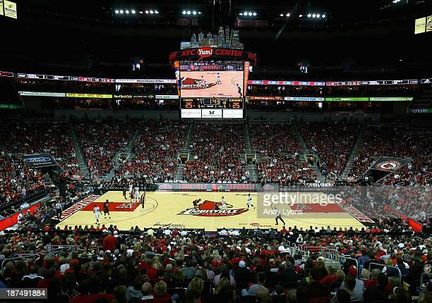 A general view of the Louisville Cardinals game against the College of Charleston Cougars at KFC YUM Center on November 9 2013 in Louisville Kentucky