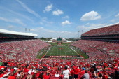 A general view of the Louisville Cardinals game against the Eastern Kentucky Colonels at Papa John's Cardinal Stadium on September 7 2013 in...