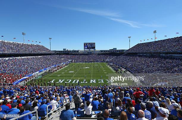 A general view of the Louisville Cardinals game against the Kentucky Wildcats at Commonwealth Stadium on September 14 2013 in Lexington Kentucky